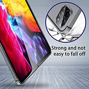 [4 Pack] UniqueMe 2 Pack Screen Protector and 2 Pack Camera Lens Protector for iPad Pro 2020 [ 12.9 ] [Alignment Frame] Tempered Glass Anti-Scratch High Definition Case-Friendly Bubble-Free (Color: Clear)