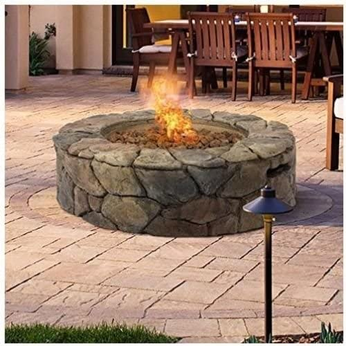 Amazon Com Nessagro Bcp Stone Design Fire Pit Outdoor Home Patio