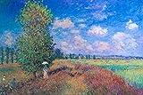 Claude Monet Summer Poppy Field 1875 Oil On Canvas French Impressionist Artist Art Poster 12x18 inch