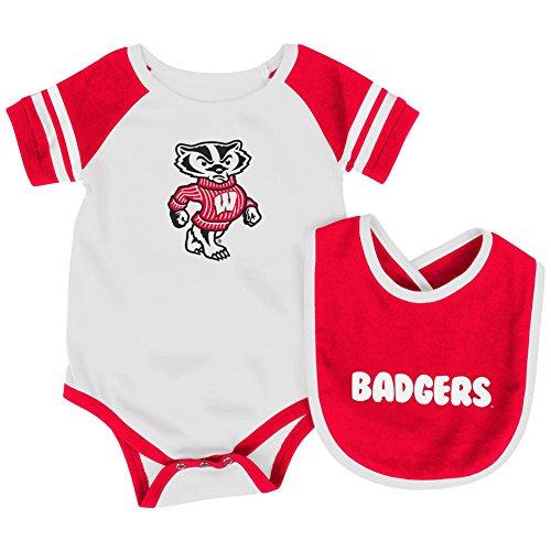 - Colosseum University of Wisconsin Badgers Infant Bodysuit and Bib Set Baby Jersey (3-6 M)