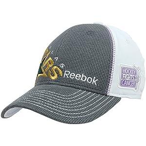 watch d7d92 d24e8 ... store nhl reebok dallas stars hockey fights cancer draft flex hat  charcoal white small medium 5dd5f