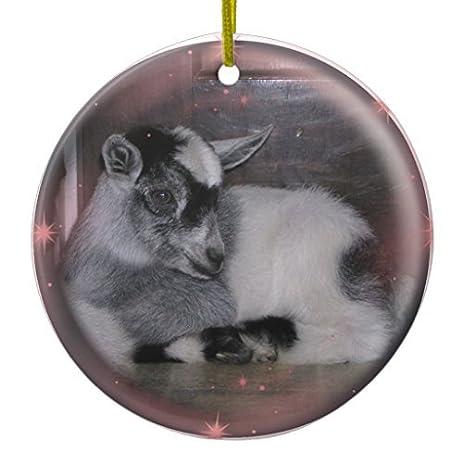 decorative christmas ornament baby nigerian dwarf goat ornament circle