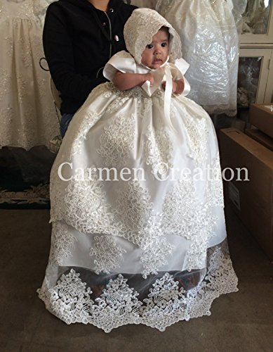 Florence Christening Gown Light Ivory by Carmen Creation