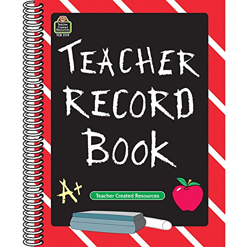 TEACHER CREATED RESOURCES TEACHER RECORD BOOK CHALKBOARD (Set of 24) by Teacher Created Resources