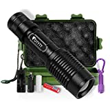 #3: LED Tactical Flashlight, OTYTY E7 1000 Lumen High Powered Super Bright Portable Handheld Rechargeable Flashlights Torch include Mini Keychain Flashlight