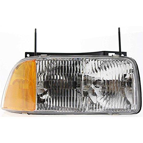 - Headlight for SONOMA PICKUP 94-97 RH Assembly Halogen Composite Type w/Bulb(s) Passenger Side