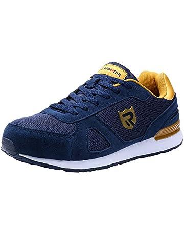 buy online 09645 50489 LARNMERN Zapatos de Seguridad para Hombre con Puntera de Acero, LM-123,  Zapatillas