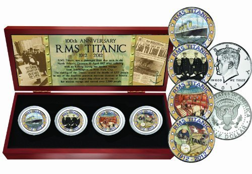 Titanic Four Coin Set by The Matthew Mint