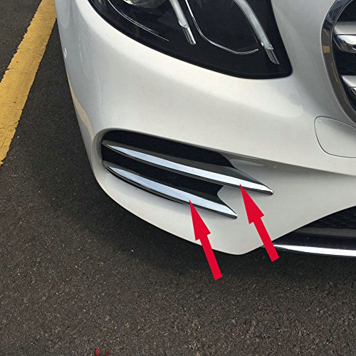 Generic Chrome Front Corner Mesh Grill Molding Cover Trim Fit For Mercedes-Benz New E-Class W213 E300 Sedan Sport 2017