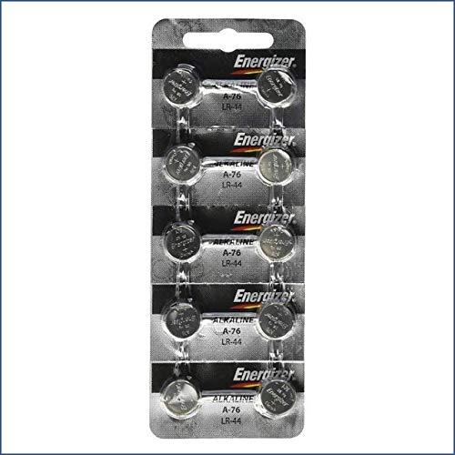 Strip of 10 Energizer A76 (LR44) 1.5v Alkaline Batteries