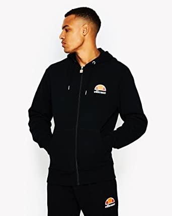 9f923a68 Ellesse Men's Miletto Zip Logo Hoodie, Black
