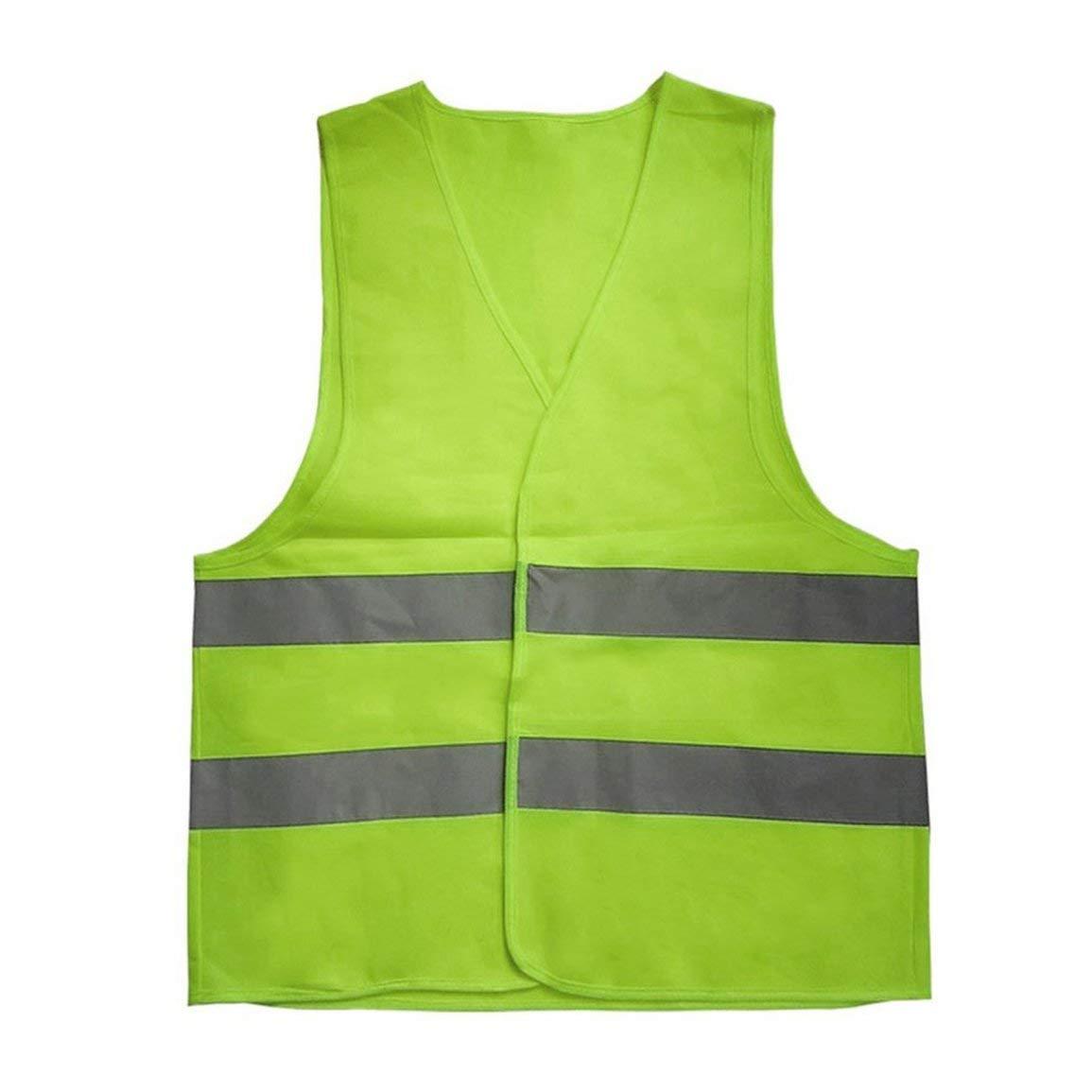 Gilet réfléchissant Avertissement Vêtements de Travail Haute visibilité Jour Nuit Plastron pour la Course de sécurité à vélo trafic Fantasyworld