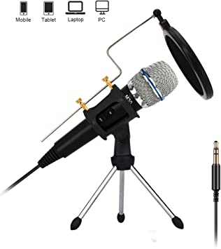 Amazon Com Professional Condenser Microphone Recording With Stand For Pc Computer Iphone Phone Android Ipad Podcasting Online Chatting Mini Microphones By Xiaokoa M30 Computers Accessories