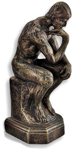 (bombayjewel Rodin the Thinker Statue Fine Art Sculpture Male Nude Figure)