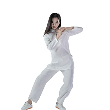 KSUA Mujeres Tai Chi Traje Ropa de Kung Fu Chino de algodón ...