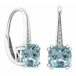 Ladies White Gold Drop Earrings