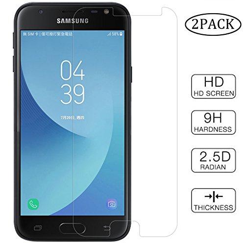 2pcs Clear Tempered Glass Crystal Screen Protector Scratch Resist for Samsung Galaxy J3 2017 Prime J327 J327R4 J327T J327T1 J3 Amp Prime 2 SM-J327AZ J3 Emerge J327A P J3 V 2017 J327V Eclipse J327VPP