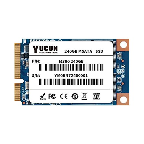 YUCUN MSATA III 240GB Internal Solid State Drive for table PC by YUCUN