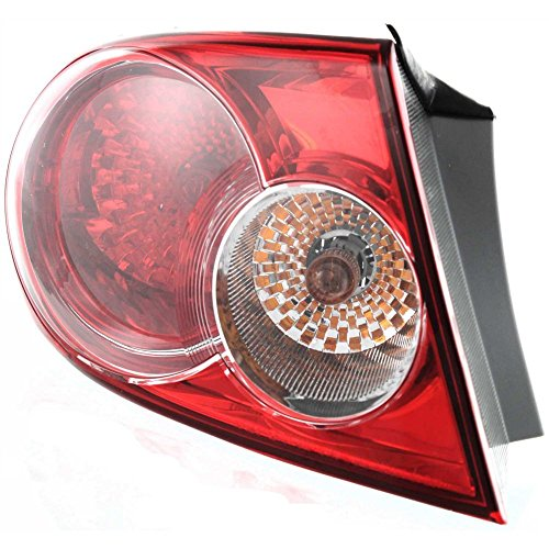 Evan-Fischer EVA15672029890 Tail Light for Mazda 6 03-05 Outer Assembly Factory InstalLED Hatchback/Sedan Left Side