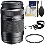 Olympus M.Zuiko 75-300mm f/4.8-6.7 II MSC ED Digital Zoom Lens (Black) with UV Filter + Cleaning & Accessory Kit