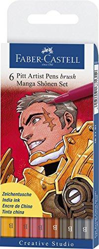 Faber-Castel PITT Artist Manga Brush Pens, Assorted Colors, (Pitt Manga)
