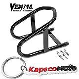Venom 6.5'' Tire Wheel Removable Chocks Trailering Motorcycle Wheel Chock For Harley Yamaha Honda Kawasaki Ducati - Sport Street Bike Cruiser Bike Touring Bike Motorcycle + KapscoMoto Keychain