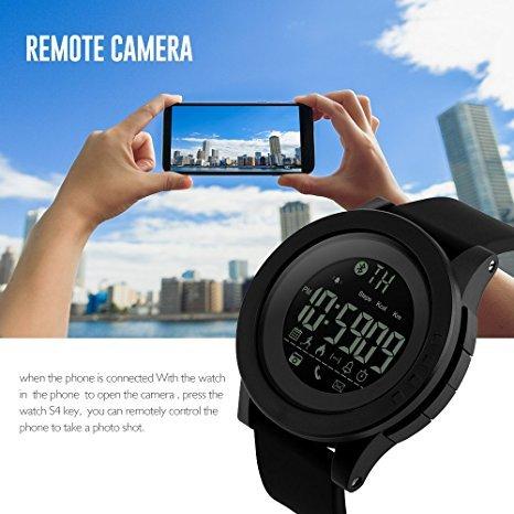 Amazon.com: Mastop Smart Watch Pedometer Calories Bluetooth Clocks Waterproof Digital Outdoor Chronograph Sports Watches (Black): Cell Phones & Accessories