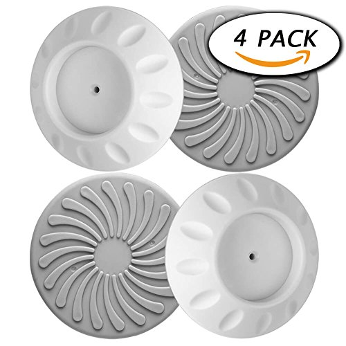 4 Pack Wall Guard Pads for Baby Gate Pressure Mount by Paxcoo (Circle Baby Gate)