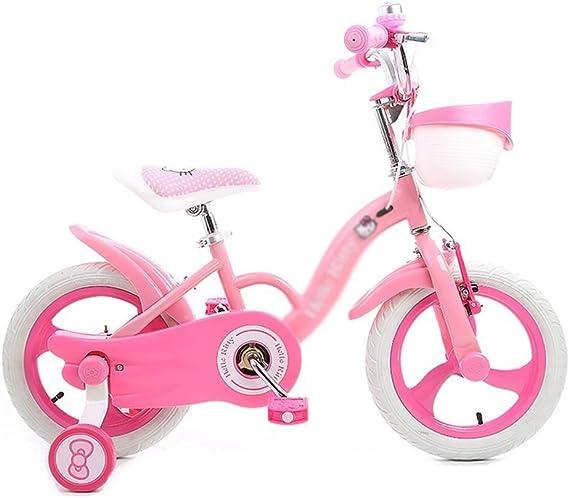 LXF Bicicletas Infantiles Bicicleta for niños niña 14 Pulgadas ...