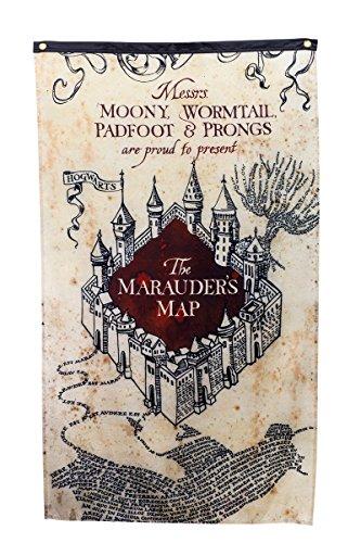Harry Potter Marauders Map Wall Banner (Marauders Map Throw)