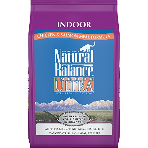 Natural Balance Indoor Ultra Chicken Meal & Salmon Meal Formula Dry Cat Food, 6-Pound