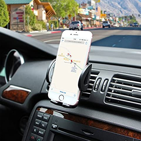 Ameauty Phone Mount Holder, 360 Degree Adjustable Air Vent Car Mount with Quick Release Button, Compatible with iPhone 7 7 Plus 6s 6 Plus 6 5s and other Smartphones and GPS devices