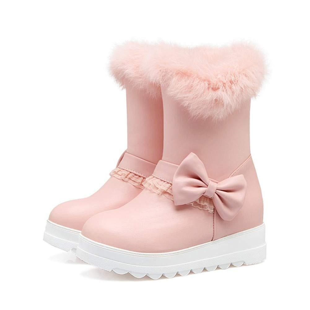 MHCDXGN Damen Schnee Herbst Stiefel Herbst Schnee Und Winter Wasserdicht Plus Samt Dicke Dicke Plattform Mode Lässig Stiefelies 6d4b7c