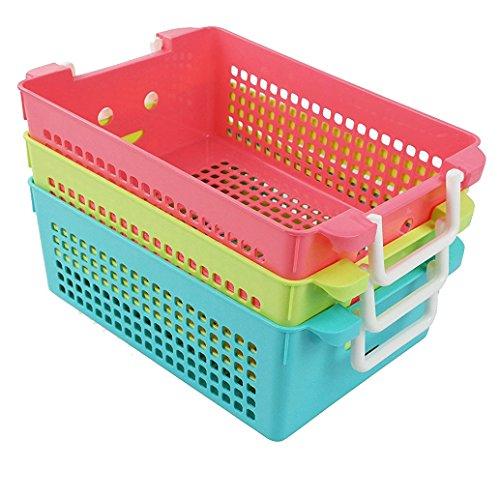Ggbin Plastic Storage Basket with Handles, Set of 3, 12