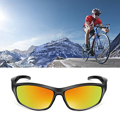 (Professional Polarized Cycling Glasses Casual Sports Bike Eyewear Comfort Outdoor Sunglasses (Red))