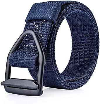 Blue Mixed Materials Belt For Unisex