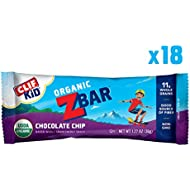 CLIF KID ZBAR - Organic Energy Bar - Chocolate Chip - (1.27 Ounce Snack Bar, 18 Count)