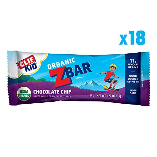 CLIF KID ZBAR - Organic Energy Bar - Chocolate Chip - (1.27 Ounce Snack Bar, 18 Count) -