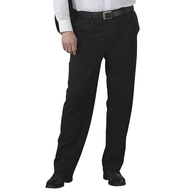 Pantalon homme ceinture réglable avec réhausse Tissus touché Laine noir T44 527e607d1c1