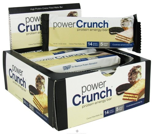 Sandwich Creme Cookies Case (Power Crunch Original Cookies and Creme Protein Bar, 1.4 Ounce -- 12 per case.)