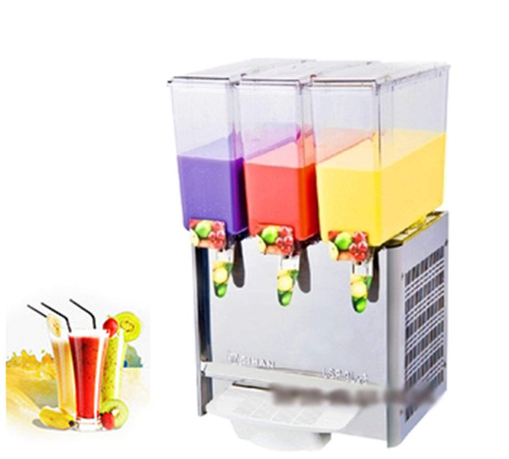 CGOLDENWALL Stainless Steel Beverage Machine Commercial Automatic Juice Dispenser Cold&Hot Drink Machine Cold Beverage Machine Beer Machine 9L Double/Three/Four Tanks (Single Cold, Three Tanks)