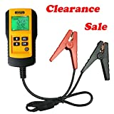 eOUTIL AE300 Digital 12V Car Battery Tester Analyzer for Life Percentage,Voltage, Resistance and CCA Value-YELLOW