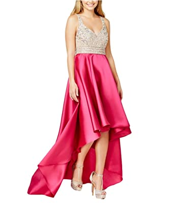 3f0cc7b57 Say Yes to the Prom Womens Embellished High-Low Dress Pink 5 - Juniors