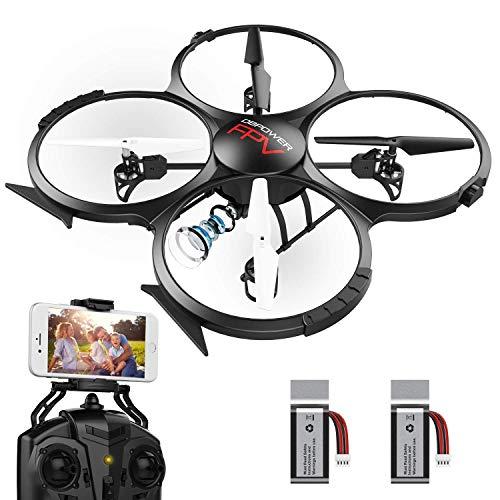 Upgraded DBPOWER U818X Wi-Fi FPV Drone with 720P HD Camera,