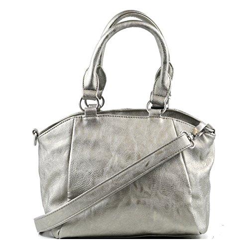 Frizi aus Preußen - Tasche IRMA SADDLE, silver