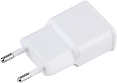 Elviray Cargador de Pared AC Adaptador de Corriente para Tableta 5V 2A USB Doble, 2 Puertos, Carga de Viaje, EE. UU, para PC con teléfono móvil, Enchufe Blanco para EE. UU.: Amazon.es: