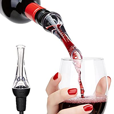 Wine Aerator - Yukiss® Premium Wine Decanter Pourer and Crystal Breather Excellent for Whiskey, Red Wine - Deluxe Bar Equipment, Best Wine Dispenser, Spout Gift Set for Men and Women
