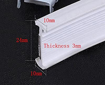 Aimyoo 3 Meters / 9.8 Feet Curved Curtain Track - Bendable Straight Windows & Balcony Slide Rail Top Mounting Ceilling Installation