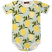 MilkBarn Organic Cotton Short Sleeve One Piece Lemon (6-12 Months)