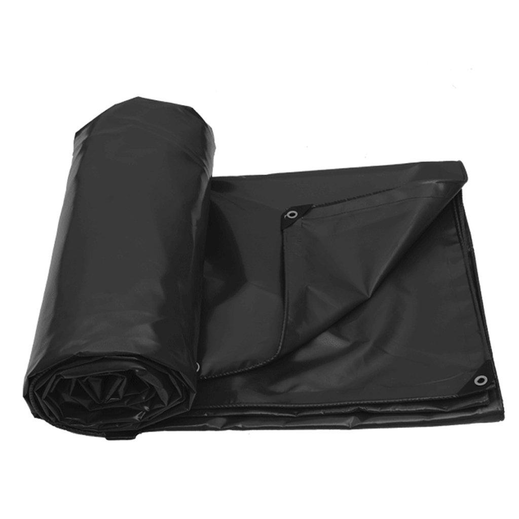 厚い防水布の防水の日焼け止めの防水シートのターポリンのトラックの車のPVCの雨天幕布 (色 : Black, サイズ さいず : 6 * 5m) B07FLTF6ND 6*5m|Black Black 6*5m